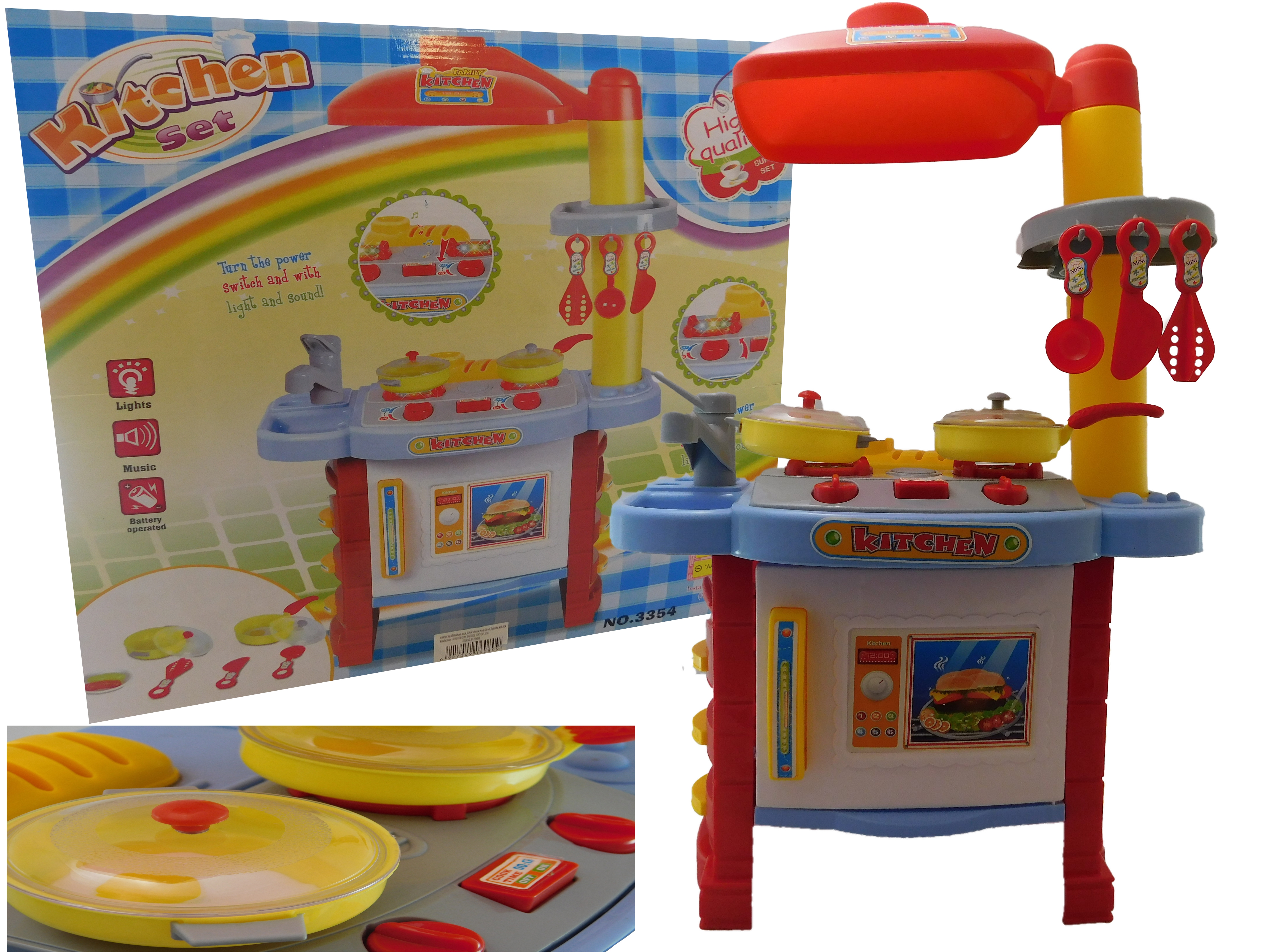 Children kids kitchen cooking role play pretend toy cooker for Small childrens kitchen set