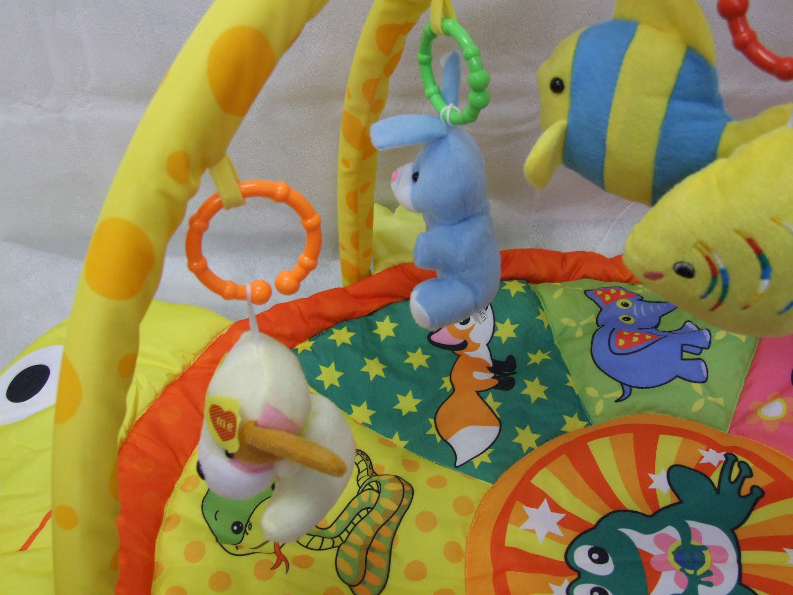 Babies Turtle Shape Soft Play Gym With Plush Dangle  Activity Baby Play Mat
